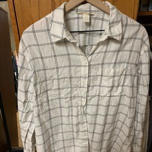 H&M white and black flannel!